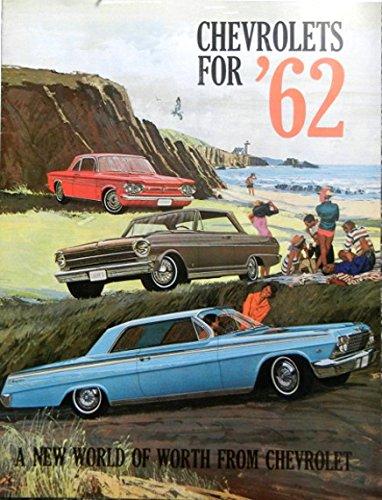 BEAUTIFUL 1962 CHEVROLET DEALERSHIP SALES BROCHURE For Impala, Bel Air, Biscayne, Chevy II (300, 100), Nova 400, Corvair (Monza, 700, 500, Station Wagon, Greenbrier), Corvette - Wagons & Convertibles (1962 Chevy Ii Nova Convertible For Sale)