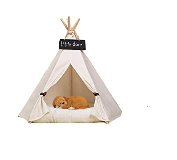 Free Love@pure white Pet Kennels Pet Play House Dog Play Tent Cat /Dog  sc 1 st  Amazon.com & Amazon.com : Free Love@pure white Pet Kennels Pet Play House Dog ...