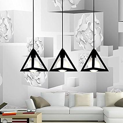 LEDIARY Vintage Iron Triangular Pendant Light Industrial ...