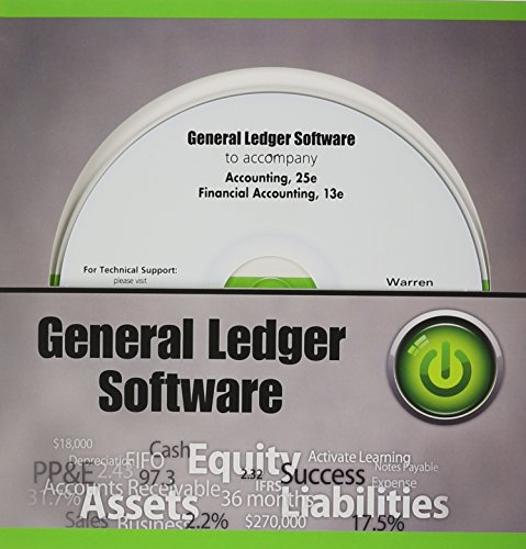 General Ledger Software CD-ROM for Warren/Reeve/Duchac's Accounting, 25th and Warren's Financial Accounting 13e (Accounting E Warren 25)