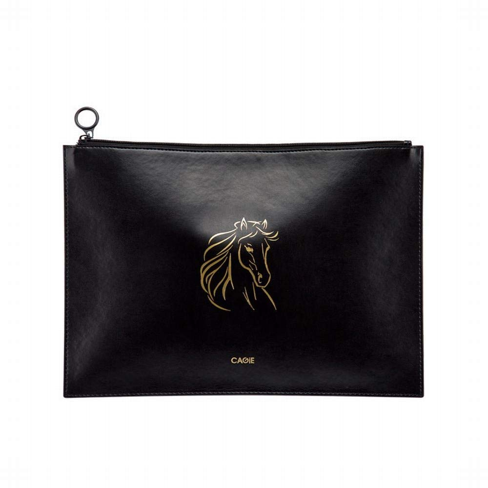 Sinngukaba Portable Zip Animal File Bag -A4 Size, Large, Hardcover, 24 X 35CM (Color : Horse) by Sinngukaba (Image #1)