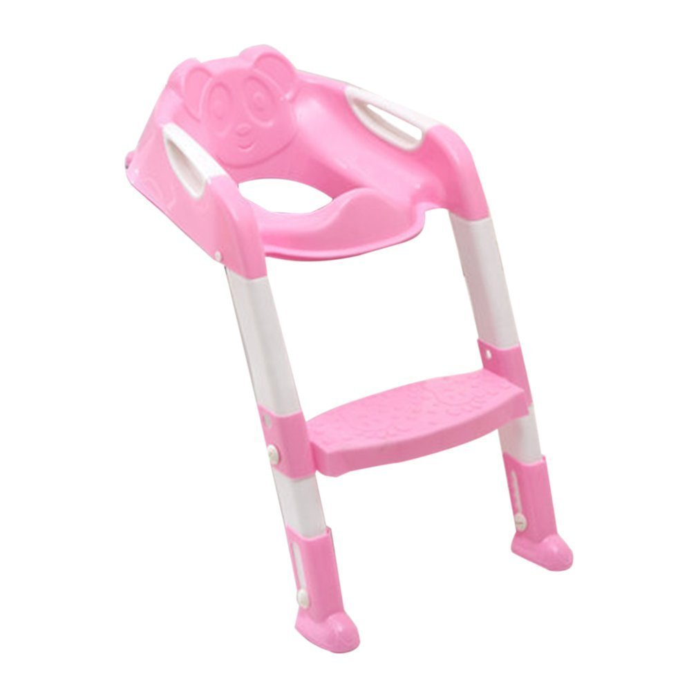 YTCYKJ Foldable Children Potty Seat with Ladder Cover PP Toilet Adjustable Chair