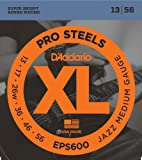 D'Addario EPS600 ProSteels Electric Guitar Strings, Jazz Medium, 13-56