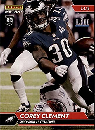 8707e1e972c Amazon.com: 2018 Panini Eagles Super Bowl LII #523 Corey Clement NFL  Football Trading Card: Collectibles & Fine Art