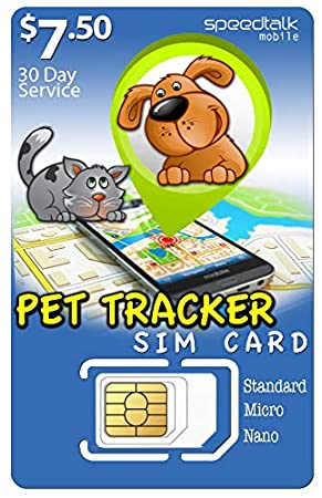 Amazon.com: SpeedTalk Mobile $7.50 PET Tracker SiM Card | 3 ...