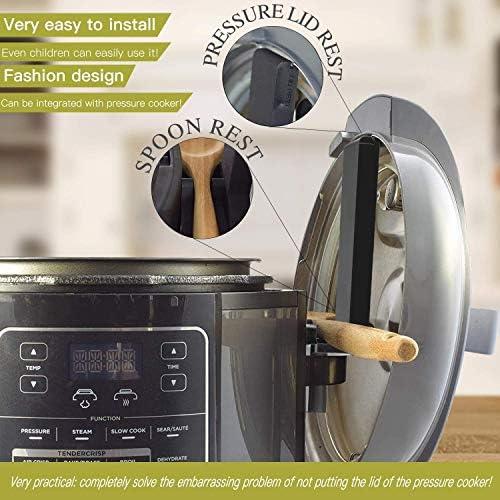 Yolococa Pressure cooker bracket Lid Holder Lid Stand Accessories Compatible with Ninja Foodi Pressure Cooker and Air Fryer 6.5 Quart and 8 Quart (Patent Pending) (Lid Stand)