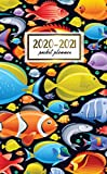 2020-2021 Pocket Planner: 2 Year Pocket Monthly Organizer & Calendar | Cute Two-Year (24 months) Agenda With Phone Book, Password Log and Notebook | Nifty Tropical Fish Pattern