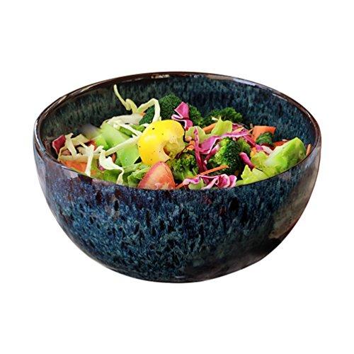 LXY European Stoneware Fruit Salad Bowl Big Soup Bowl Retro Tableware Home Creative ()
