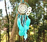 Indian Dream catcher handmade traditional blue feather dream catcher wall hanging car hanging home decoration ornament