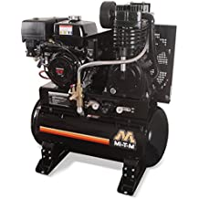 Mi-T-M ABS-13H-30H Tank-Mounted 2 Stage Air Compressor, 30 gal, 29.0 CFM at 175 psi, 389 cc Honda OHV Engine