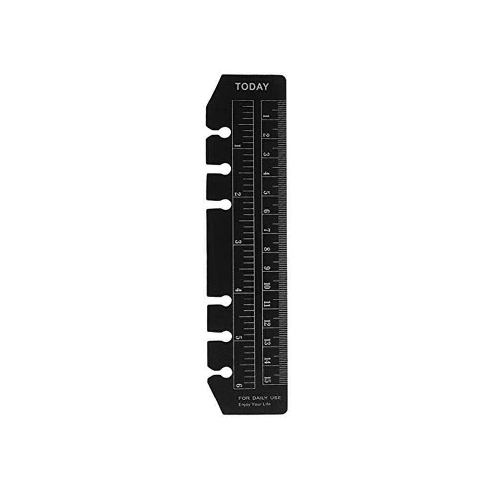 2 St/ück Lineal 6 L/öcher Ordner Ordner Plastik Scrub Snap-in Lesezeichen Trennbl/ätter Einsteckbare Index Seite Notizbuch Messwerkzeug A5//A6//A7 A7/_white