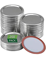 200 Pcs Regular Mouth Canning Lids, 70MM Mason Jar Lids Ball Canning Lids Reusable Leak Proof Split-Type Lids Safe Storage Canning Lids with Silicone Seals Rings for Ball Cans, Kerr Jars (70mm/2.7inch)