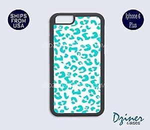 iPhone 6 Plus Case - Mint Leopard Print iPhone Cover