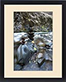 Framed Print of Stacked rock formations in the South fork of the Walla Walla River