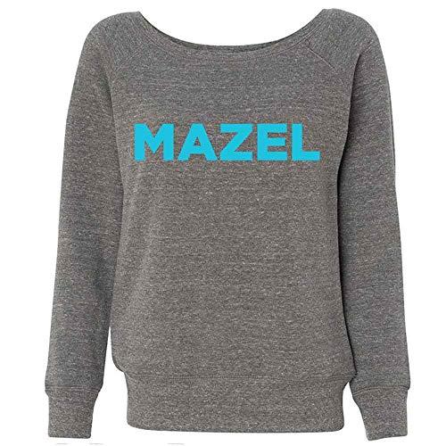 Watch What Happens Live Mazel Off-The-Shoulder Sweatshirt-Ash Grey-Medium