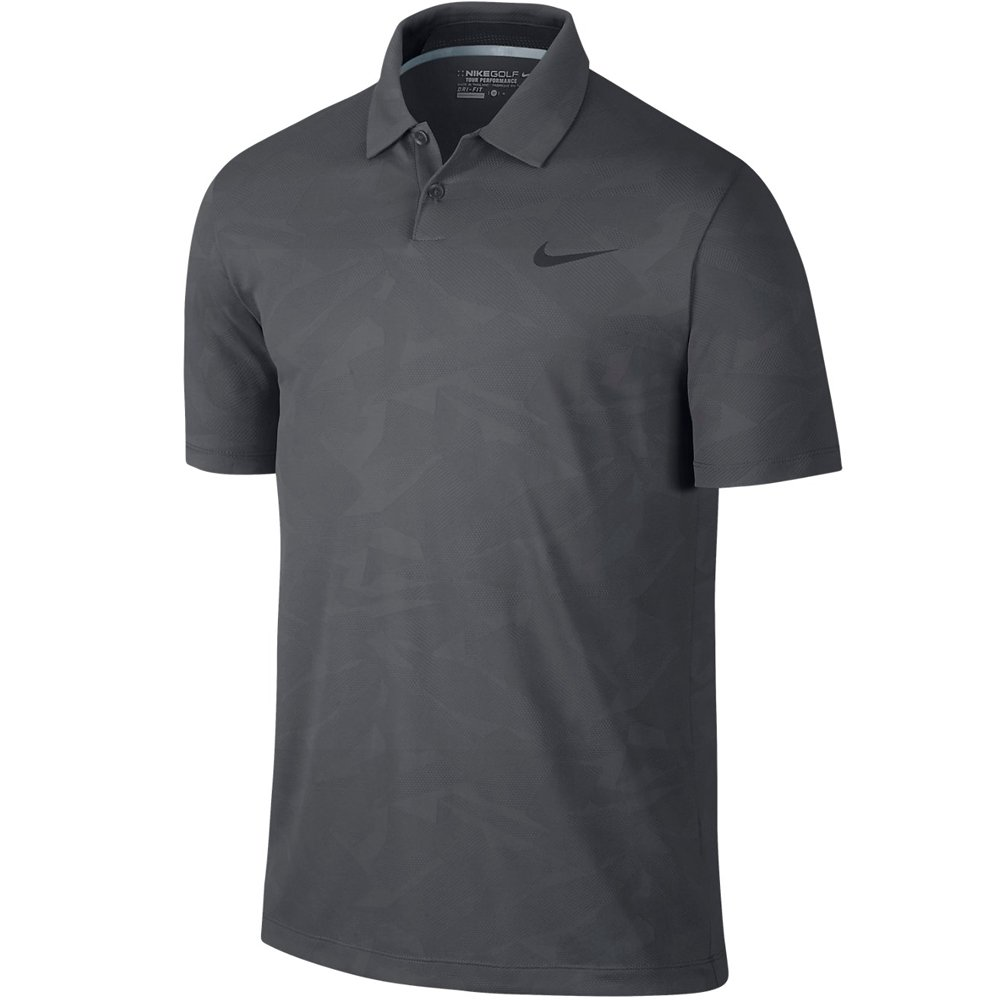 Nike Mobility Camo Jacquard Golf Polo 2015 Dark Grey/Pure Platinum ...