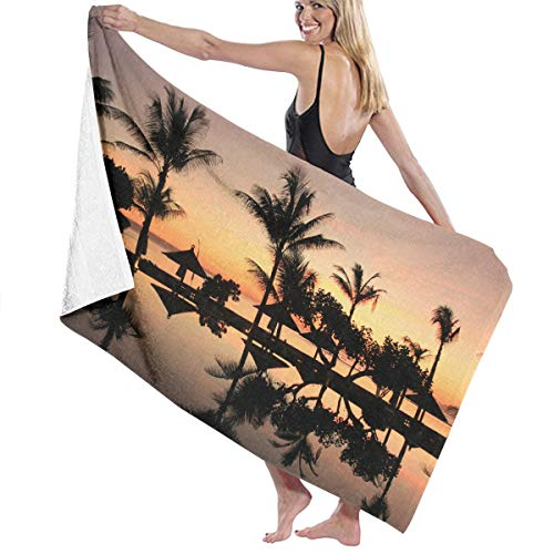 Bali Prints Bath Towel Wrap Womens Spa Shower and Wrap Towels Swimming Bathrobe Cover Up for Ladies Girls - White -
