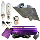 Apollo Horticulture GLK1000CTAC 1000 Watt Grow Light Digital Dimmable HPS MH System for Plants Air Cool Tube Hood Set