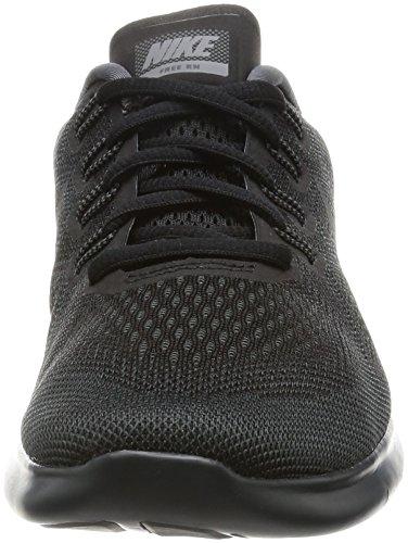 Nike Womens Free RN 2017 Running Shoe (8 B(M) US, Black/Anthracite Dark Grey)