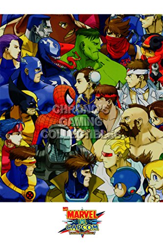 CGC Huge Poster GLOSSY FINISH - Marvel Vs Capcom Age of Heroes PS1 PS2 Sega Saturn DreamCast - EXT867 (24