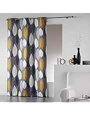 Coton d'Interieur tenda a occhielli in cotone, Cotone, giallo, 240x140 cm