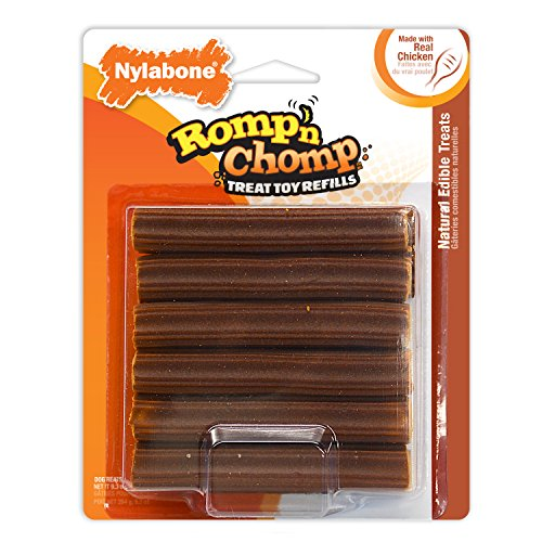 Nylabone Romp 'n Chomp Interactive Treat Toy Refill, 12 count