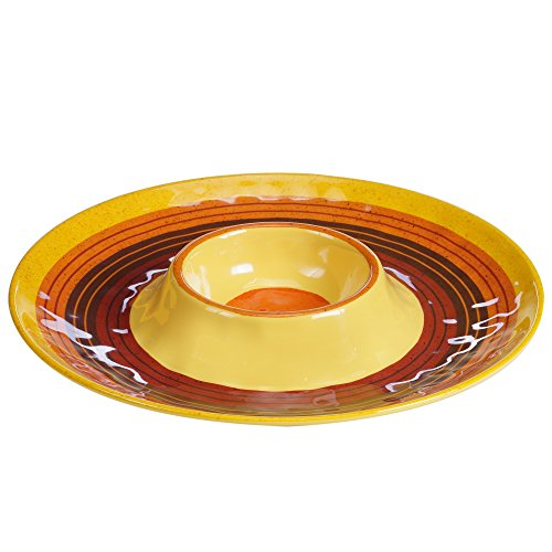 "Certified International Sedona 14.5"" Melamine Chip & Dip, Multicolor"