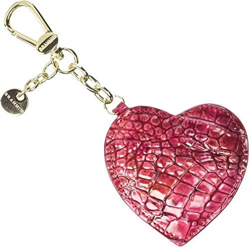 Brahmin Women's Heart Key Fob Petunia One Size