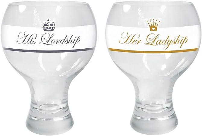 Raising Spirits Ladyship Glass Gin Wine Decorated Modern Stylish Glassware