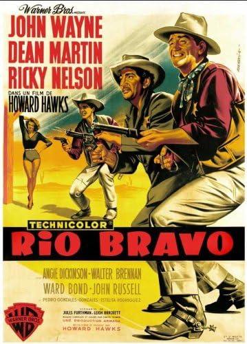 RIO BRAVO JOHN WAYNE 1959 50s ORIGINAL CINEMA MOVIE PRINT PREMIUM POSTER
