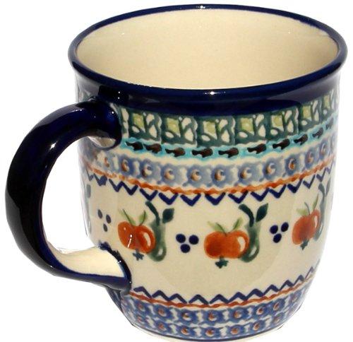(Polish Pottery Mug 12 Oz. from Zaklady Ceramiczne Boleslawiec 1105-DU71 Unikat Pattern, Capacity: 12 Oz.)