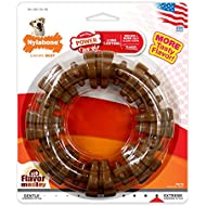Nylabone Dura Chew Power Chew Textured Ring Souper, Large Dog Chew Toy, Flavor Medley