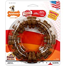 Nylabone Dura Chew Power Chew Textured Ring Souper, Large Dog Chew Toy, Flavor Medley