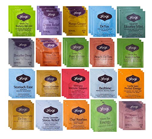 YOGI TEA SAMPLER 20 FLAVORS (60 TEA BAGS)