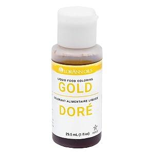 LorAnn Gold Liquid Food Color, 1 ounce squeeze bottle