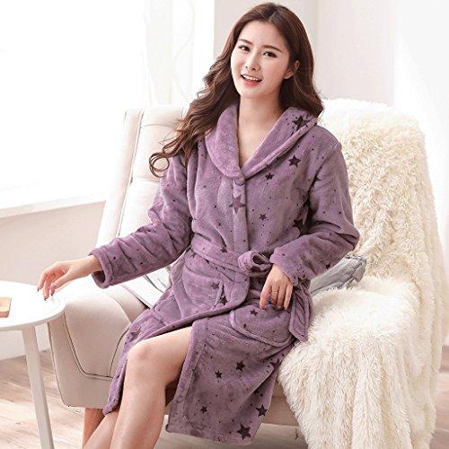 casa Robe Inverno caldo Sleep vestiti pigiama Moda Autunno ispessimento Multicolore Stagione Lady ZLR Accappatoi Eqx8ZYnp