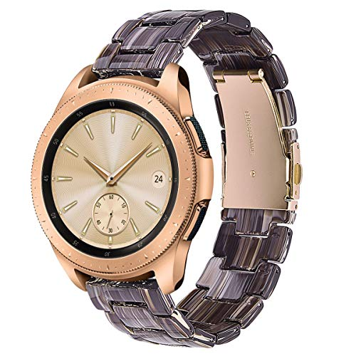 V-MORO Resin Band Compatible with Galaxy Watch 42mm (Active 40mm) Bands Women 20mm Light Bracelet Strap with Stainless Steel Rose Gold Buckle for Samsung Galaxy Watch 42mm/Galaxy Watch Active 40mm
