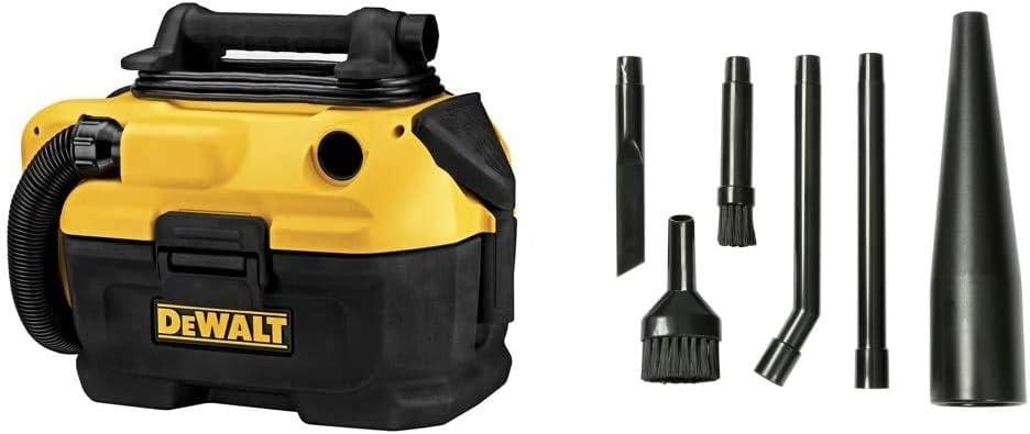DEWALT 18/20V Max Vacuum, Wet/Dry & Workshop Wet/Dry Vacs Multi-Fit Wet Dry Vacuum Accessories VT1215 Vacuum Micro Cleaning Kit Vacuum Attachments, Black, 1-(Pack),6