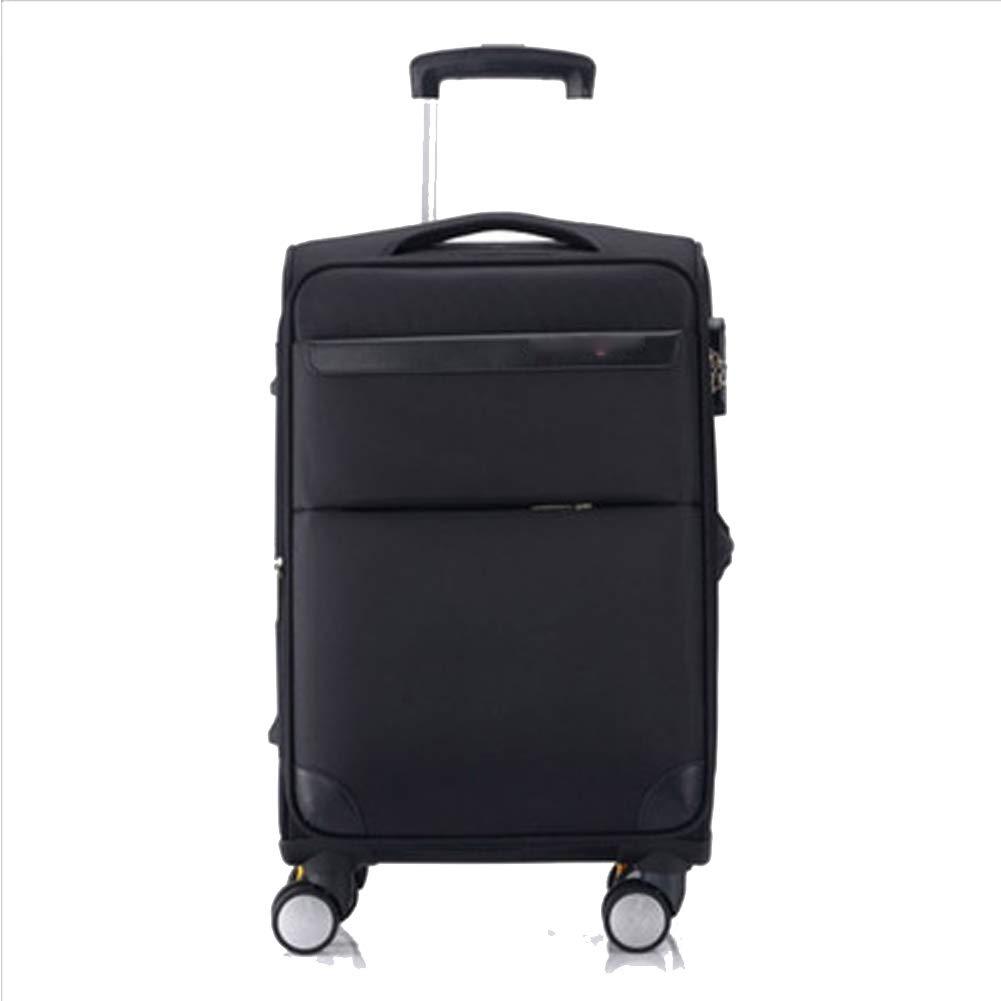 男性と女性のトロリーケース、ユニバーサルホイール、ビジネス用男性用スーツケース、オックスフォード布製スーツケース、搭乗用バッグ、 B07QVQDVTG black Small