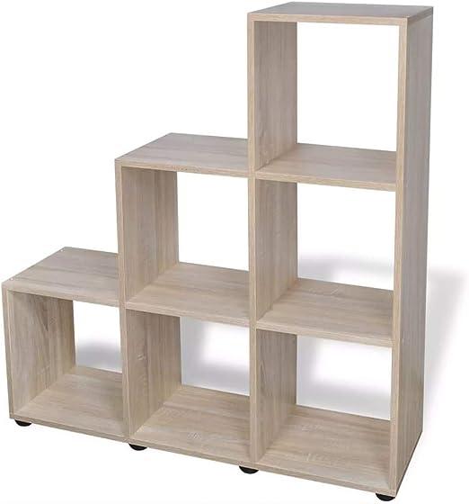 Tuduo estantería de Escalera/con estantes 107 cm Roble diseño Elegante y único estantería Moderna estantería de diseño: Amazon.es: Hogar