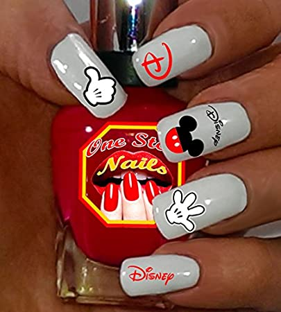 Amazon Disney Mickey Mouse Nail Art Decals Tattoo Nail Decal