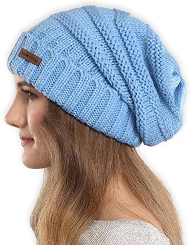 (Brook + Bay Slouchy Cable Knit Cuff Beanie - Stay Warm & Stylish - Chunky, Oversized Slouch Beanie Hats for Women & Men - Serious Beanies for Serious Style)