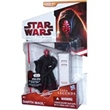 Star Wars Legacy Collection Series Saga Legends 4 Inch Tall Action Figure - SL07 Darth Maul with Hooded Black Cloak and Red Double-Bladed Lightsaber
