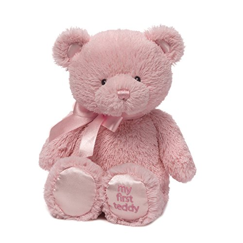 Baby GUND My First Teddy Bear Stuffed Animal Plush, Pink, 24