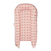 DockATot Grand Dock (Coral Trellis) - Perfect for Cuddling, Lounging, Co Sleeping & Crib to Bed Transition - Breathable & Hypoallergenic - Lightweight for Easy Travel - Suitable from 9-36 months