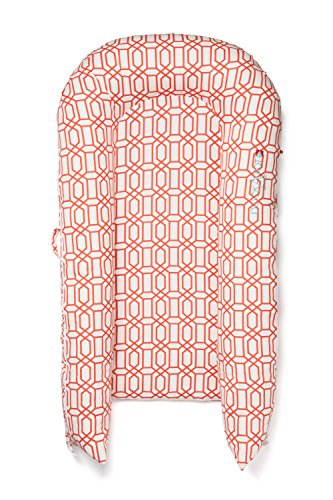 (Coral Trellis) - Perfect for Cuddling, Lounging, Co Sleeping & Crib to Bed Transition - Breathable & Hypoallergenic - Lightweight for Easy Travel - Suitable from 9-36 months (Coral Trellis)