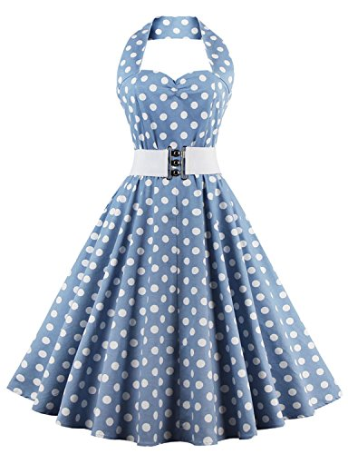 Vintage loves retro white black polka dot dress vintage dress polka dot SKYBLUEDOT S (80 S Outfit)