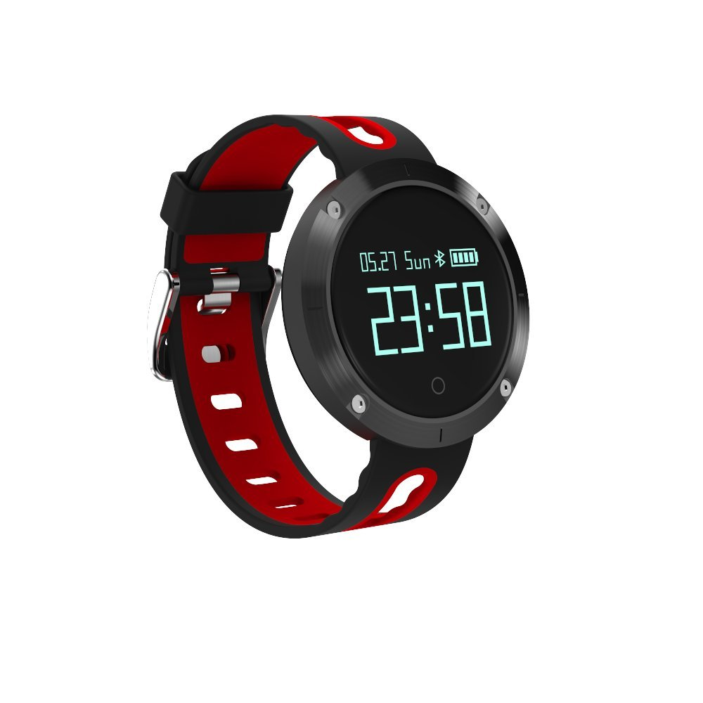 kxcd dm58 Smart pulsera pulseras, frecuencia cardíaca Fitness Tracker BT 4.0 OLED Pantalla táctil inteligente banda podómetro con Monitor de sueño, ...