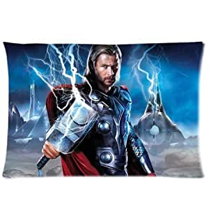 thor god of thunder chris hemsworth with lightening hammer