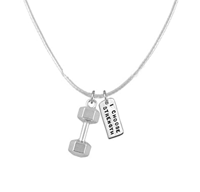 s silver necklace womens pendant on collection deal women size insignia grey huge sterling shop dumbbell